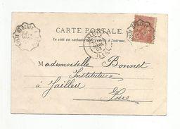 AMBULANT DE AOSTE SAINT GENIX à LYON DU 15/3/1903 - Marcophilie (Lettres)