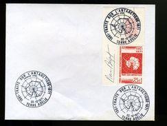 P10 Premier Jour TAAF N° 39 Traité Sur L 'antartique,, Signée Pierre Béquet - FDC