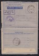 INDIA, 1988, IPKF, SRI LANKA, Forces Blue Letter Card,SCARCE, FPO 882 With IPKF Slogan, Censor  S-465 - India