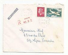 AFFRANCHISSEMENT COMPOSE SUR LETTRE RECOMMANDEE DE PARIS 16 DU 30/11/1970 - Marcophilie (Lettres)