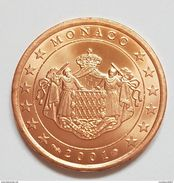 RARE PIECE 5 CENTIMES 2001   MONACO Piéce  NEUVE - Monaco