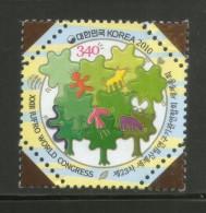 Korea 2010 IUFRO World Congress Seoul Nature Odd Shaped Embossed Stamp MNH # 2884 - Umweltschutz Und Klima
