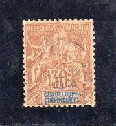 Guadeloupe: Année 1892 Papier Teinté N°35 - Gebraucht