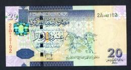 LIBYA  -  2009  20 Dinar  UNC - Libië