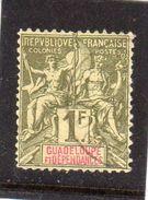 Guadeloupe: Année 1892 Papier Teinté N°39 - Guadeloupe (1884-1947)