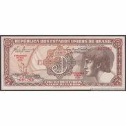 TWN - BRAZIL 166a - 5 Cruzeiros 1961-1962 Serie 070ᴬ - Signatures: De Almeida & Carrilho UNC - Brésil
