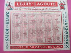 Petit Calendrier De Poche Recto-Verso/Lejay-Lagoute/ Créateur Du Cassis De DIJON/ MF Lamperier/1954     CAL362 - Calendriers