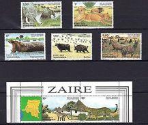 Congo Zaire 1982 Wild Animals MNH Mi.779-85 - Timbres