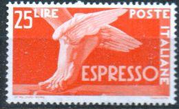 PIA - ITALIA - Specializzazione - 1946 : Espresso  £ 25- (SAS  28 - CARRARO  4) - 6. 1946-.. Repubblica