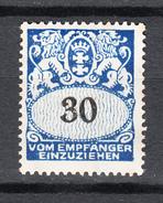 Danzig 1938,1V,Mi Porto 33,Postfrisch Mit Falz D2576) - Danzig