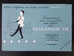Ancien Buvard Publicitaire, Assurance, Séquanaise - Vie, édition 1954, Imprimerie Chantreau Et Fils à Nantes - Bank & Insurance
