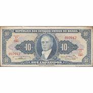 TWN - BRAZIL 167b - 10 Cruzeiros 1961-1963 Various Series - Signatures: Nunes & Calmon XF+ - Brazil
