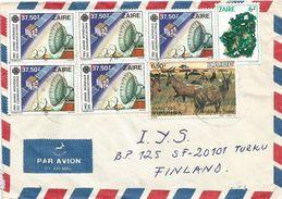 RDC DRC Congo Zaire 1990 Mbanza-Ngungu Space Telecommunications Satellite Dioptas Mineral Topis Antilope Cover - Zaïre
