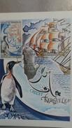 CPSM 1 ER JOUR MAXIMUM TIMBRE DECOUVERTE DES ILES CROZET ET KERGUELEN 1772 1972 - TAAF : Terres Australes Antarctiques Françaises
