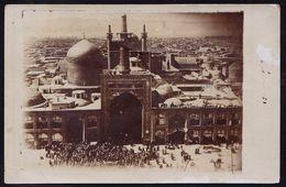 ORIGINAL 1911 PHOTOCARD  ** MECHED MESHED MASHHAD PERSE ** Sent To JUMET ( Belgium ) - Rare !! - Iran