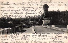 BELGIQUE - LE GILEPPE - LE LION ET LE BARRAGE - Gileppe (Barrage)