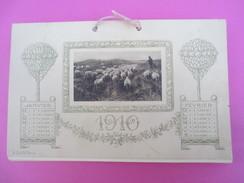 """Petit Calendrier  Type """" éphéméride"""" Tous Les Deux Mois/ Scénes Des Champs/ Barroux-Vivin/EPERNAY/1910     CAL365 - Calendars"""