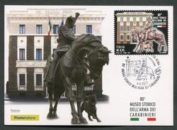 ITALIA FDC CARTOLINA MAXIMUM CARD 2017 - MUSEO STORICO DELL'ARMA DEI CARABINIERI - 603 - Maximum Cards