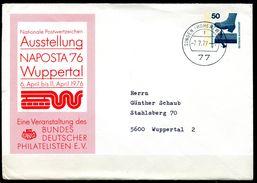 """Germany 1977 Dekorative Privatganzsache NAPOSTA Mi.Nr.PU ?? Mit Jahrhundert Tstp.""""Singen,Hohentwil 7.7.77 """"1 Ganzsache - Sobres Privados - Usados"""