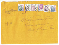 TH134     Donne Nell´arte €.0,01 + €.0,03 + €.0,05 + €.0,10 + €.0,20+ €.0,45 Su Busta Per - 6. 1946-.. Republik