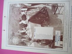 """Moyen Calendrier Type """"éphéméride"""" Par  Mois/uniquement Février Et Mars/Chocolat Masson/Chocolatier/Paris/1896    CAL366 - Grand Format : 1991-00"""