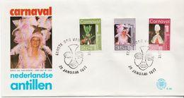 Netherlands Antilles Set On FDC - Carnival