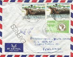 RDC DRC Congo Zaire 1984 Kinshasa Hippo African Postal Union Express Cover - Zaïre