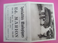 Petit Calendrier De Poche à Deux Volets/Retour De Pêche/Ed Marion/Spécialités Œnologiques/Rue De Bercy/Paris/1924 - Kalenders