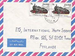 RDC DRC Congo Zaire 1980 Kinshasa Black Elephant Train Germany Cover - Zaïre