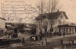CIREY -54- LA GARE ET CAFE DE LA GARE - Cirey Sur Vezouze