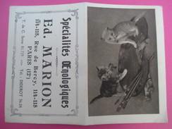 Petit Calendrier De Poche à Deux Volets/Chatons-Palette/Ed Marion/Spécialités Œnologiques/Rue De Bercy/Paris/1924 - Calendari