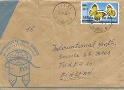 RDC DRC Congo Zaire 1978 Bagira Butterfly Colotis Protomedia Overprint 48K On 10s Michel 545 Cover - Vlinders