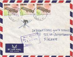 RDC DRC Congo Zaire 1979 Idiofa Fresh Water Catfish Malapterurus Electricus Taxed Cover - Zaïre