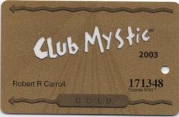 Club Mystic GOLD 2003 : Mystic Lake Casino & Little Six Casino MN USA - Casino Cards