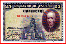 BILLETE ESPAÑOL 25 Ptas. DE LA REPUBLICA  15 DE AGOSTO DE 1928 - 1-2-5-25 Pesetas