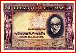 BILLETE ESPAÑOL 50 Ptas. DE LA REPUBLICA  22  DE JULIO DE 1935 - [ 2] 1931-1936 : Repubblica