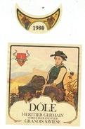 Rare // Etiquette // Dôle 1980 , Heritier Germain, Granois-Savièse, Valais // Suisse - Labels