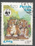 Laos 1984. Scott #520 (U) Animal, Tigers, Tigres * - Laos