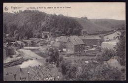 PEPINSTER - LA VESDRE - LE PONT DU CHEMIN DE FER ET LE TUNNEL - Expédiée 1912 - Pepinster