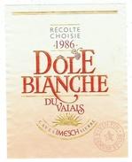 Rare // Etiquette // Dôle Blanche Du Valais, Cave Imesch, Sierre, Valais // Suisse - Etiquettes