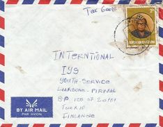 RDC DRC Congo Zaire 1983 Tshikapa Code Letter B President Mobutu Cover - Zaïre