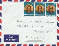 RDC DRC Congo Zaire 1984 Lubero Code Letter A President Mobutu Cover - Zaïre