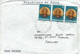 RDC DRC Congo Zaire 1984 Mbuji-May Code Letter D President Mobutu Cover - Zaïre