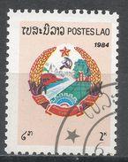 Laos 1984. Scott #537 (U) National Arms, Armoirie Nationale * - Laos