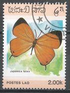 Laos 1986. Scott #694 (U) Japonica Lutea, Butterfly, Papillon * - Laos