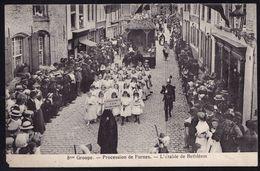 Précurseur ** PROCESSION DE FURNES - L'ETABLE DE BETHLEEM - GENDARME A COTE - Zeldzame ! - Veurne