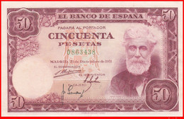 ESPAÑA  BILLETE DE 50 Ptas.   DEL 31 DE DICIEMBRE 1951   ( BILLETE  PLANCHA PERFECTO ESTADO SIN CIRCULAR ) - [ 3] 1936-1975 : Régence De Franco