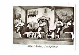 Lot 2 Cpm - PLATZL BÜHNE SCHUHPLATTLER / TRACHTENTANZ - Folklore Danse Robe à Volant Cloche Dessin Mural - Danses