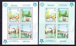 Bosnia/Herzegovina Serbia 2005 50Y Europa  2 M/s Perf & IMPERF ** Mnh (F121) ROCK BOTTOM PRICE - European Ideas