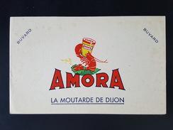 Ancien Buvard Publicitaire, AMORA La Moutarde De Dijon. - Mostard